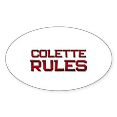 colette rules Oval Decal