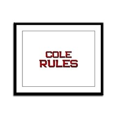 cole rules Framed Panel Print