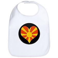 I love Macedonia Flag Bib