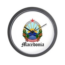 Macedonian Coat of Arms Seal Wall Clock