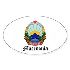 Macedonian Coat of Arms Seal Oval Decal