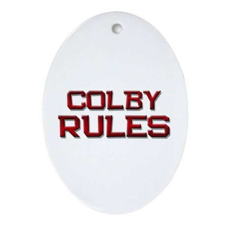 colby rules Oval Ornament