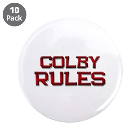 """colby rules 3.5"""" Button (10 pack)"""