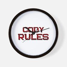 cody rules Wall Clock