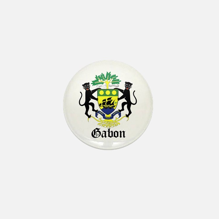 Gabonese Coat of Arms Seal Mini Button