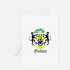 Gabonese Coat of Arms Seal Greeting Card