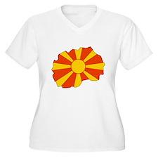 Macedonia Flag Map T-Shirt