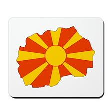 Macedonia Flag Map Mousepad
