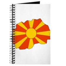 Macedonia Flag Map Journal
