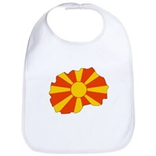 Macedonia Flag Map Bib