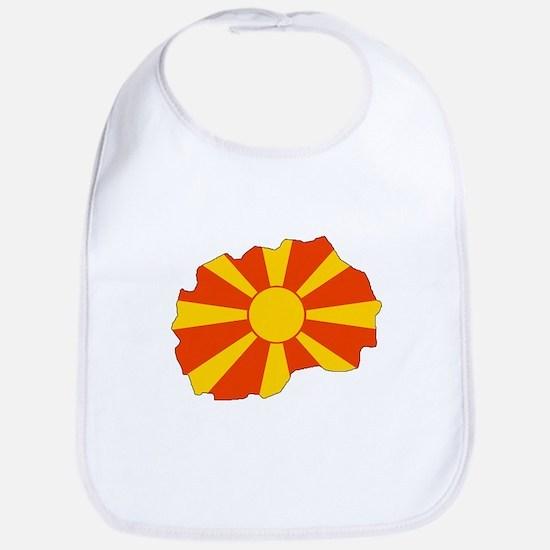 Macedonia Flag Map Bib
