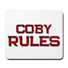 coby rules Mousepad