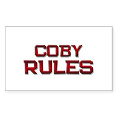 coby rules Rectangle Decal