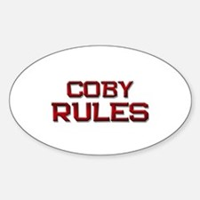 coby rules Oval Decal