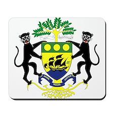 Gabon Coat of Arms Mousepad