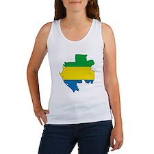 Gabon Flag Map Women's Tank Top