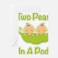 Cute Two peas in a pod Greeting Card