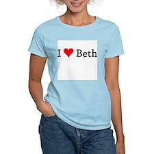I Love Beth Women's Pink T-Shirt