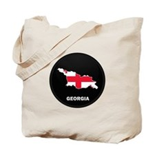 Flag Map of Georgia Tote Bag