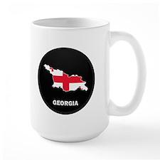 Flag Map of Georgia Mug