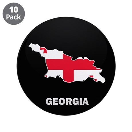 """Flag Map of Georgia 3.5"""" Button (10 pack)"""