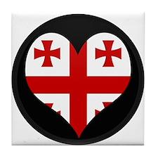 I love Georgia Flag Tile Coaster