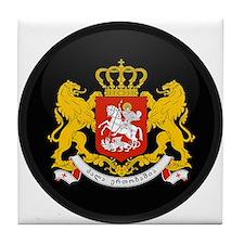 Coat of Arms of Georgia Tile Coaster
