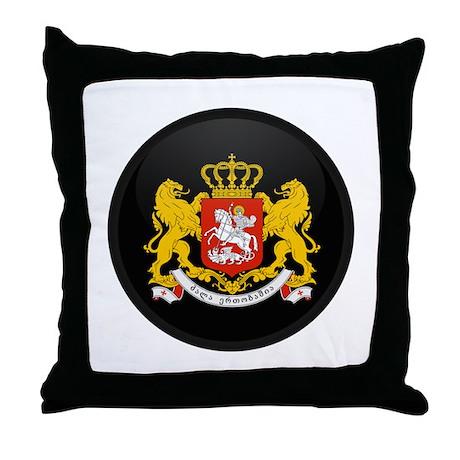 Coat of Arms of Georgia Throw Pillow