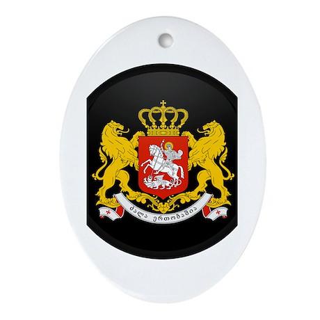 Coat of Arms of Georgia Oval Ornament