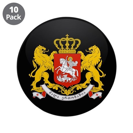 """Coat of Arms of Georgia 3.5"""" Button (10 pack)"""
