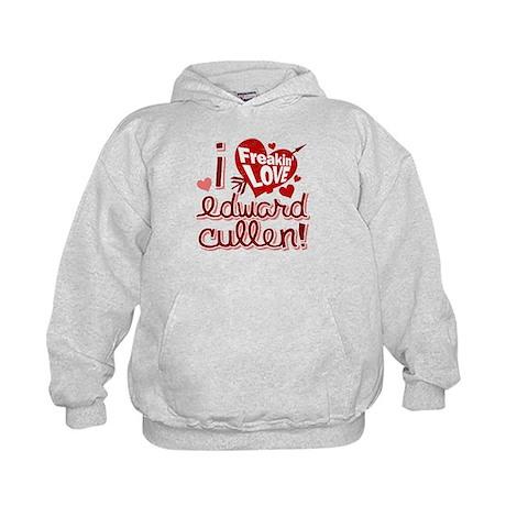 Freakin LOVE Edward Cullen! Kids Hoodie