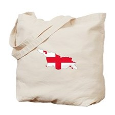 Georgia Flag Map Tote Bag