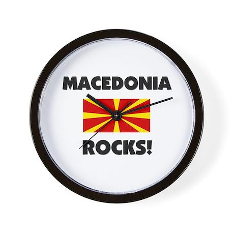 Macedonia Rocks Wall Clock