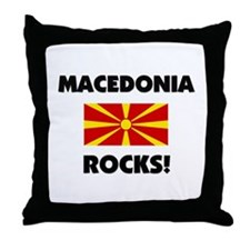 Macedonia Rocks Throw Pillow