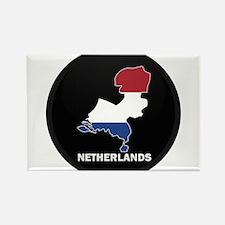Flag Map of NETHERLANDS Rectangle Magnet