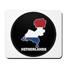 Flag Map of NETHERLANDS Mousepad
