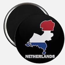 Flag Map of NETHERLANDS Magnet