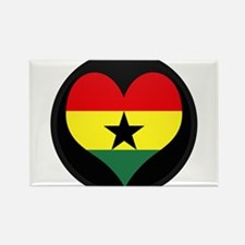 I love ghana Flag Rectangle Magnet