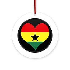 I love ghana Flag Ornament (Round)