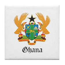 Ghanaian Coat of Arms Seal Tile Coaster