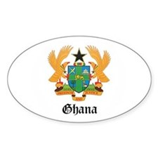 Ghanaian Coat of Arms Seal Oval Decal