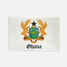 Ghanaian Coat of Arms Seal Rectangle Magnet