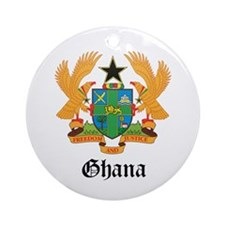 Ghanaian Coat of Arms Seal Ornament (Round)