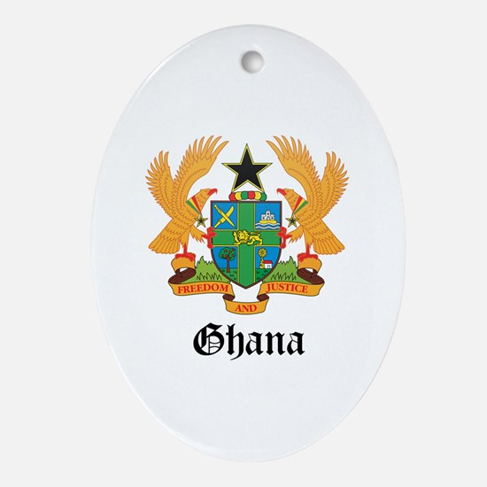 Ghanaian Coat of Arms Seal Oval Ornament