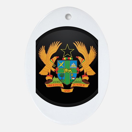 Coat of Arms of ghana Oval Ornament