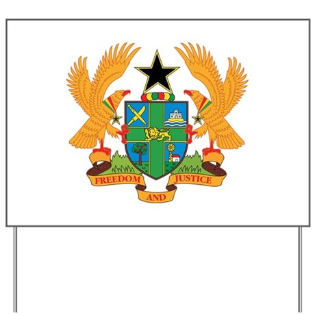 ghana Coat of Arms Yard Sign