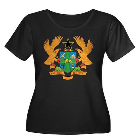 ghana Coat of Arms Women's Plus Size Scoop Neck Da