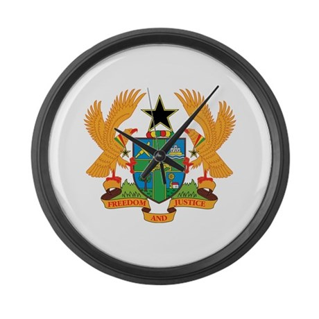 ghana Coat of Arms Large Wall Clock