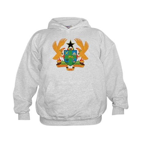 ghana Coat of Arms Kids Hoodie