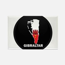 Flag Map of Gibraltar Rectangle Magnet